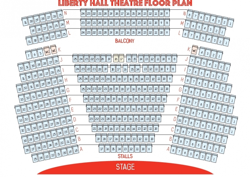 Liberty Hall Theatre Floor plan
